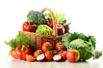 Image of a basket of vegetables - looking delicious